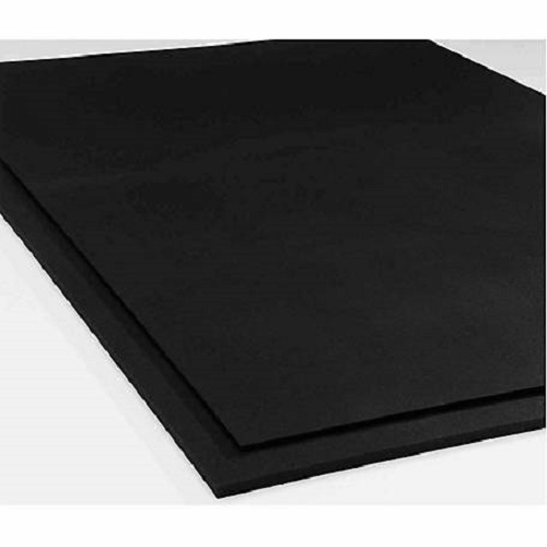 "3/4"" Smooth Surface Rubber Gym Mats 4' X 6"